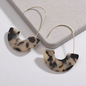Leopard Print Resin Hoop Earrings - Shop Realign