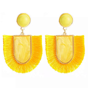 Devi  Marbled Tassel Earrings - Shop Realign