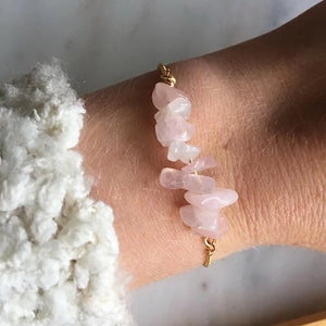 Mina Rose Quartz Adjustable Bracelet - Shop Realign