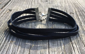 Belle Trois Black Choker Necklace - Shop Realign