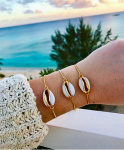 Natalia Cowrie Shell Adjustable Bracelet - Shop Realign