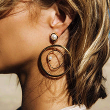 Hang In There  Pearl Hoop Earrings - Shop Realign
