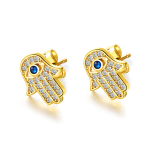 Hamsa Gold Earrings - Shop Realign
