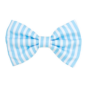 Pastel Blue Striped Bow Tie
