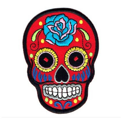 Transfers - Iron on - 'Mexican Skull Red'