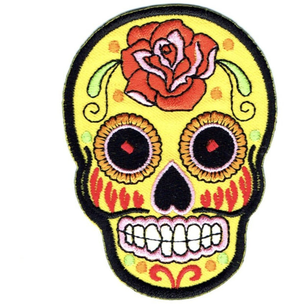 Transfers - Iron on - 'MEXICAN SKULL YELLOW'