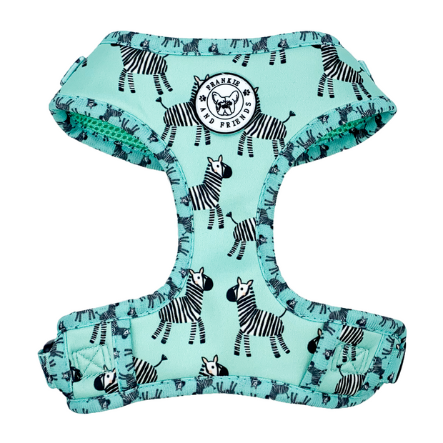 Mint Zebra-Adjustable Harness