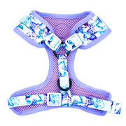 Purple Floral -Adjustable Harness