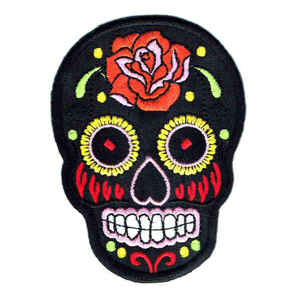 Transfers - Iron on - 'Rose Sugar Skull '