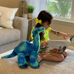 Brachiosaurus Book and Bear Box