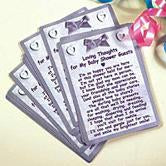 "25 ""Baby Shower Guests"" Prayer Cards"