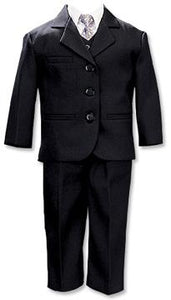 5-Piece Special Occasion Boys Suit Black
