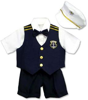 5 Piece Nautical Summer Shorts Suit Set