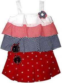 Baby Togs Three-Piece Summer Skirt Set