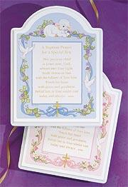 Baptism Prayer Plaque