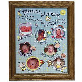 Blessed Moments Baby Photo Collage Frame