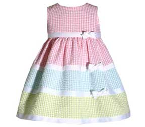 Bonnie Jean Tripled Tiered Bow Dress