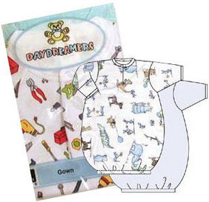 Boys 2 Pack Preemie Gowns