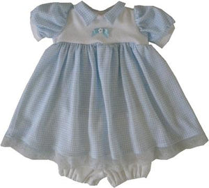 Checked Preemie Dress Set