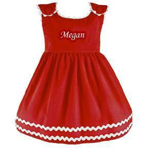Custom Personalized Cordoroy Dress