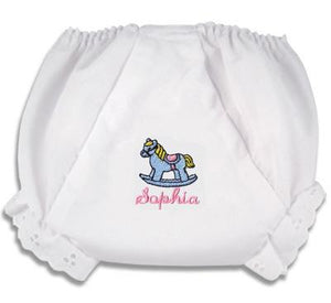 "Embroidered Horse ""Fancy Pants"" Diaper Cover"