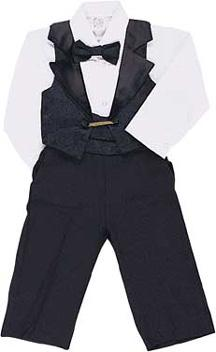 Formal Tuxedo Vested Suit