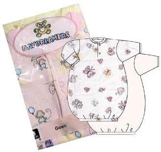 Girls 2 Pack Preemie Gowns