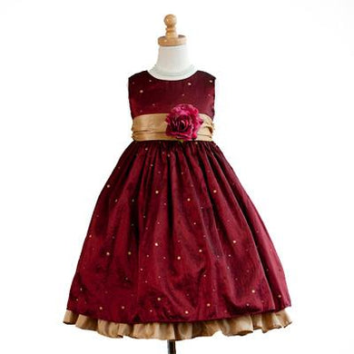 Girls Burgundy Special Occasion Dress