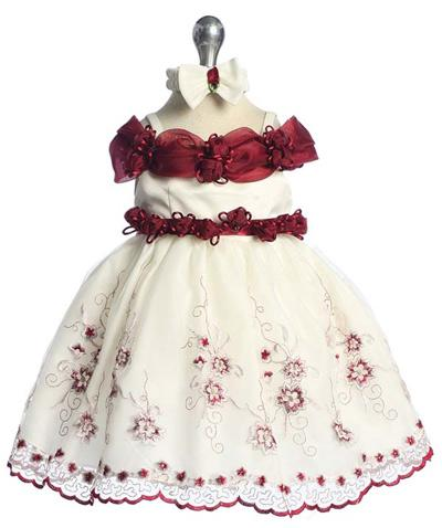 Girls Burgundy Light Special Occasion Dress