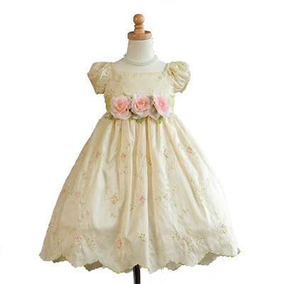Girls Flower Banana Party Dress