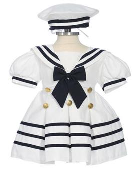 Girls Nautical Sailor Dress