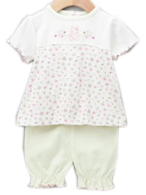 Green & Pink Bear Bloomer Set