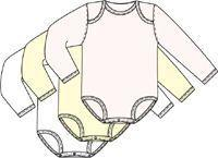 Infant Girl's 3 Pack Long Sleeved Bodysuits