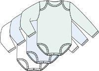 Infants Boy's 3 Pack Long Sleeved Bodysuits