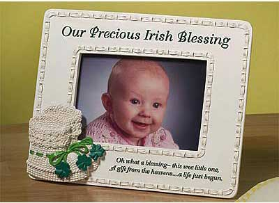 Irish Blessings Baby Photo Frame