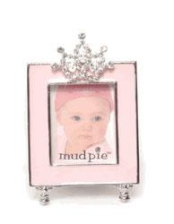 Jeweled Crown Pink Photo Frame