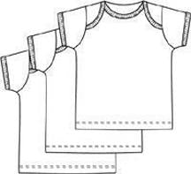 Lap Shoulder Pull On Tee Shirts Pack of 3