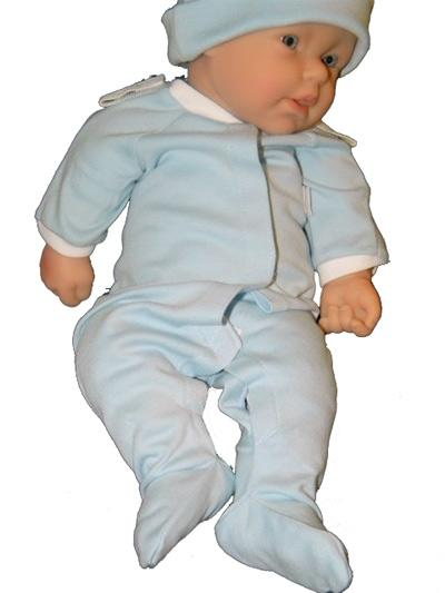 Light Blue Preemie Coverall