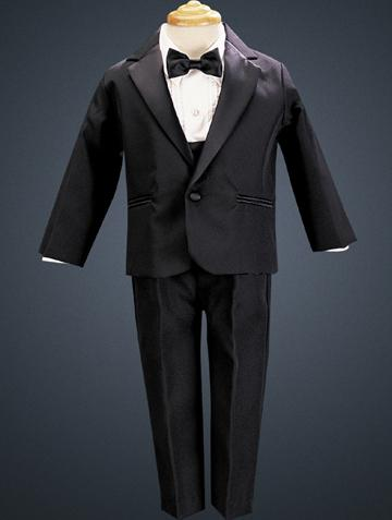 Lito Childrens Wear Boy's Tuxedos & Dresswear Black