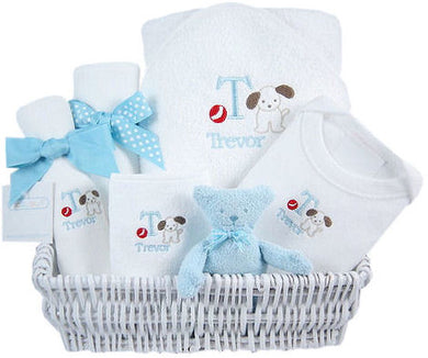 Little Pup - Personalized Luxury Layette Basket