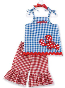 Personalized Little Pincher Tunic And Flare Pant