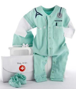 """Big Dreamzzzzz"" Personalized Baby Doctor MD Set"