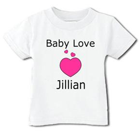 Personalized Baby Love T-Shirt