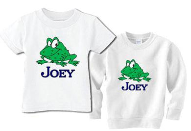 Personalized Boys Frog Tee