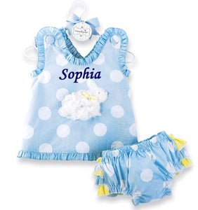 Personalized Bunny Pinafore And Bloomer Set
