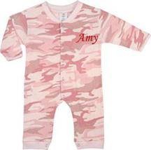 Personalized Camo Long Sleeve Coverall Girls