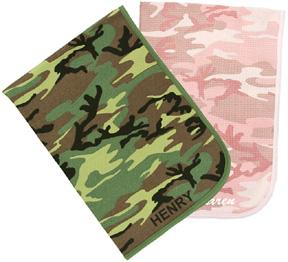 Personalized Camo Receiving Blanket