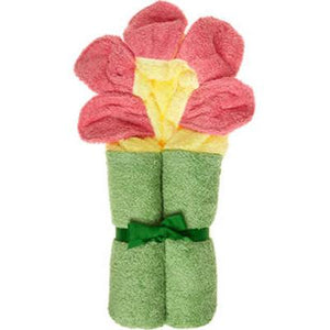 Personalized Flower Hooded Towel