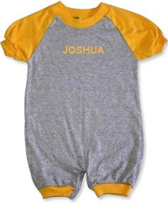 Personalized Gold & Grey Tee Romper