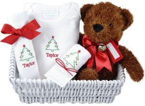 Personalized Holiday Party Baby Gift Basket
